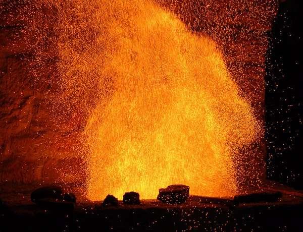 Le feu dans la fournaise de Agorregi