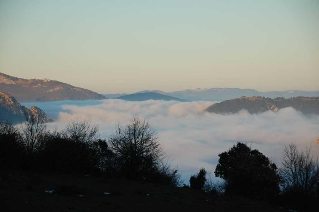 Valle de Ollo con niebla