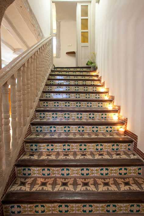 Stairs with candles