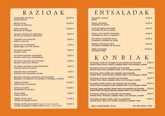 Restaurante Txola en Igara zona oficinas
